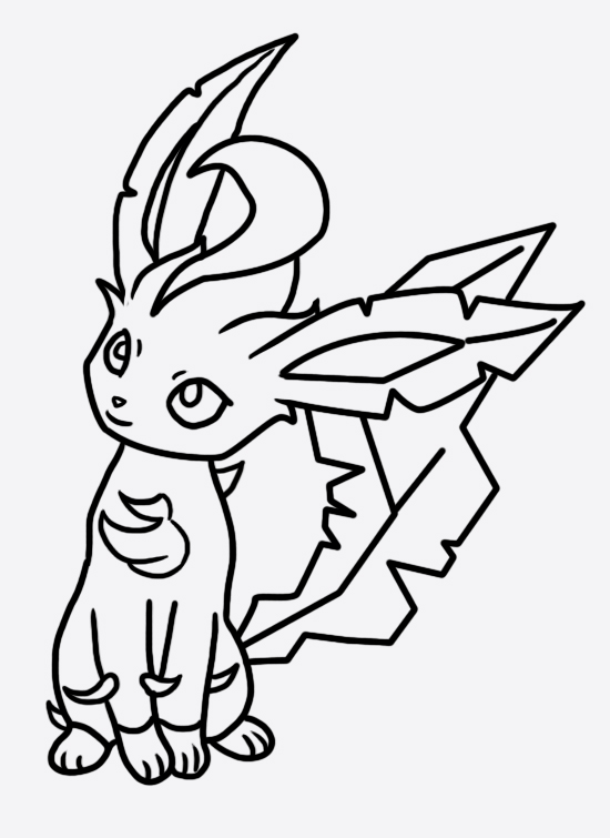 leafeon coloring pages leafeon coloring page 2 by bellatrixie white on deviantart pages coloring leafeon