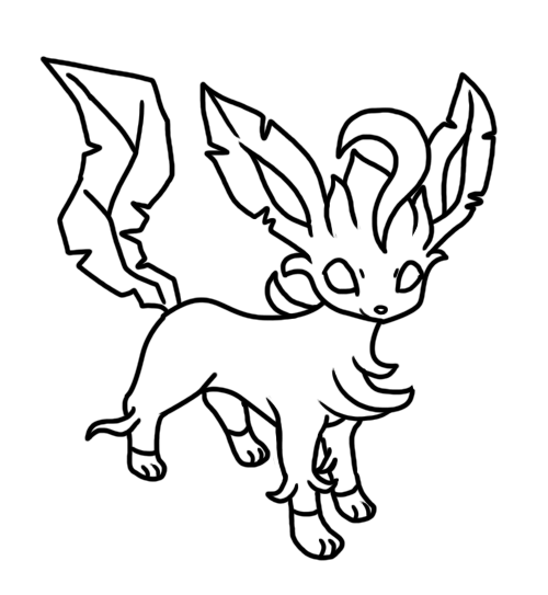 leafeon coloring pages leafeon coloring page by bellatrixie white on deviantart coloring leafeon pages