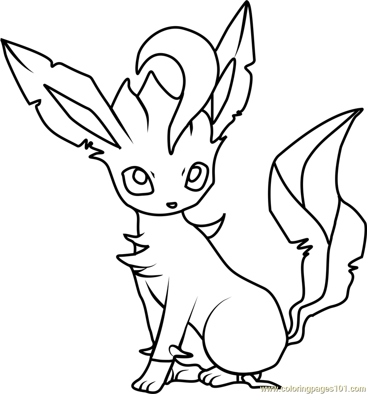 leafeon coloring pages leafeon pokemon coloring page free pokémon coloring coloring leafeon pages