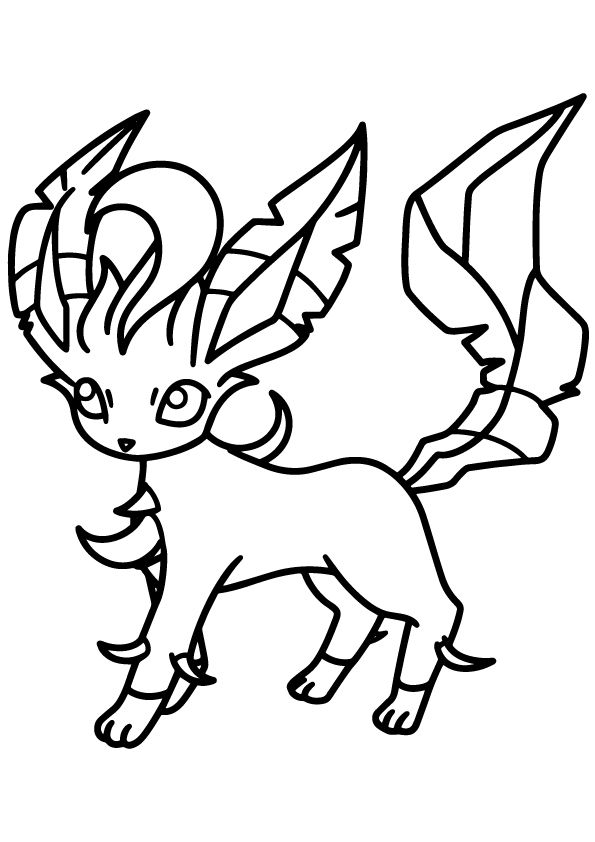 leafeon coloring pages leafeon pokemon dragones para colorear dibujos para pages coloring leafeon