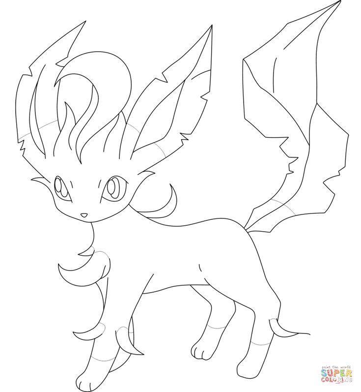 leafeon coloring pages leafeon super coloring pokemon coloring pokemon coloring pages leafeon