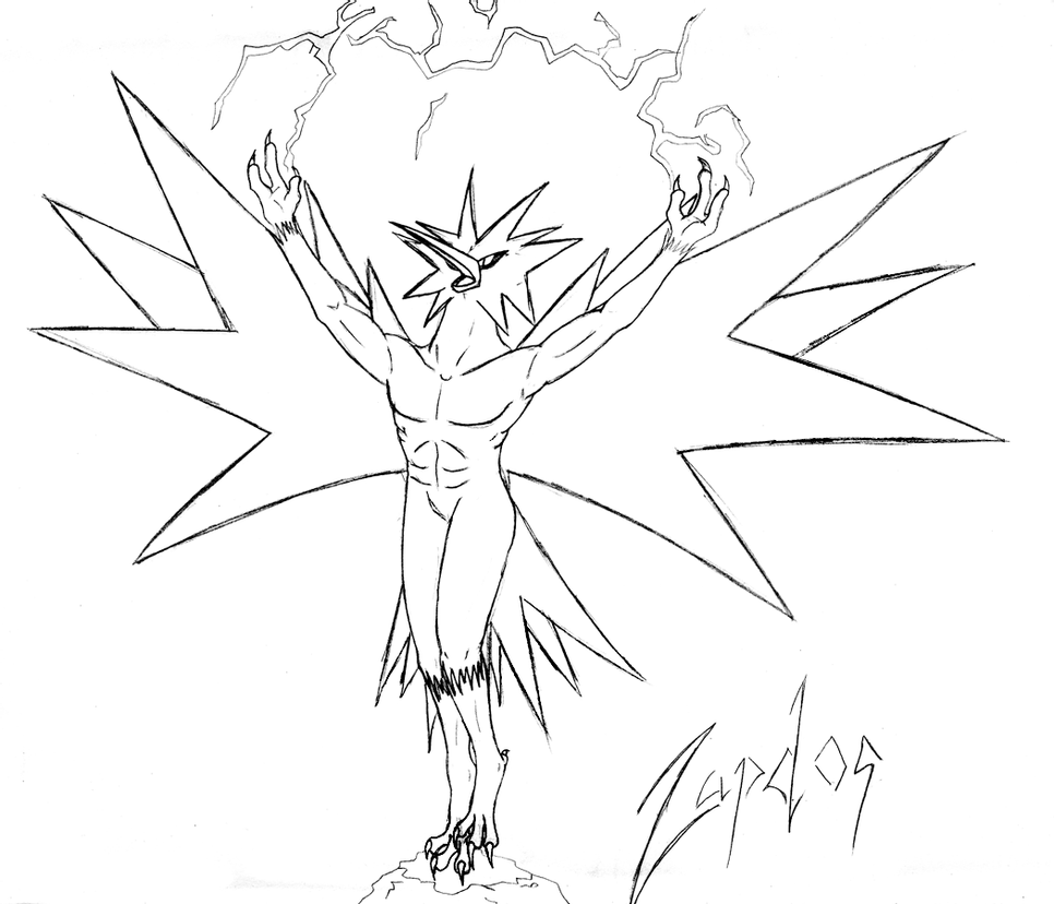 legendary zapdos pokemon coloring pages articuno zapdos moltres coloring page coloring pages legendary pages zapdos pokemon coloring