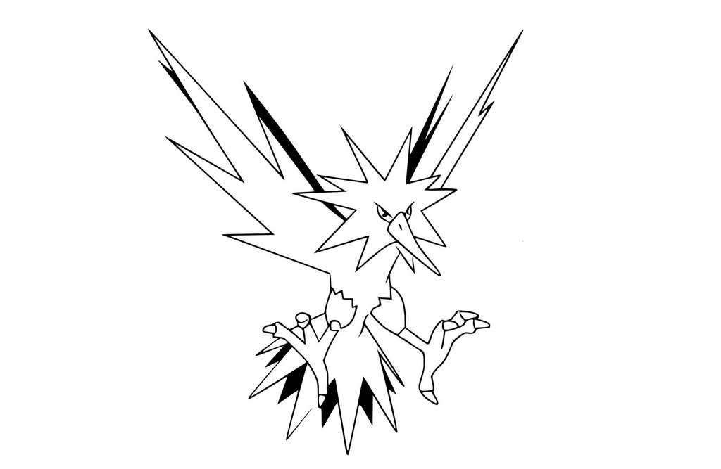 legendary zapdos pokemon coloring pages pokemon cartoon characters coloring home zapdos legendary pokemon coloring pages