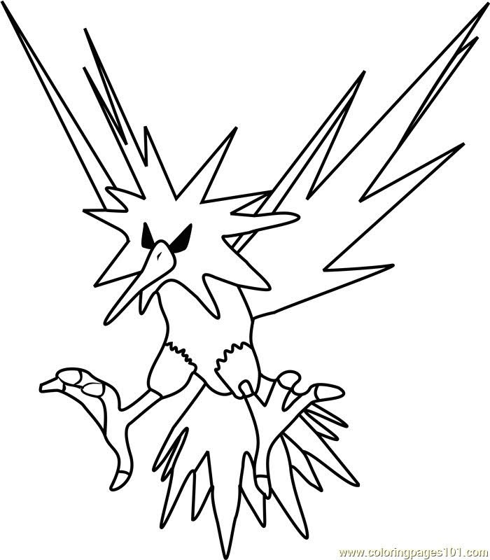 legendary zapdos pokemon coloring pages pokemon coloring pages zapdos free printable coloring pages coloring legendary pokemon zapdos pages