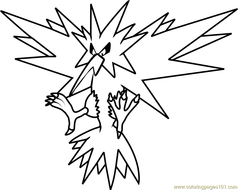 legendary zapdos pokemon coloring pages zapdos coloring pages coloring pokemon zapdos legendary pages