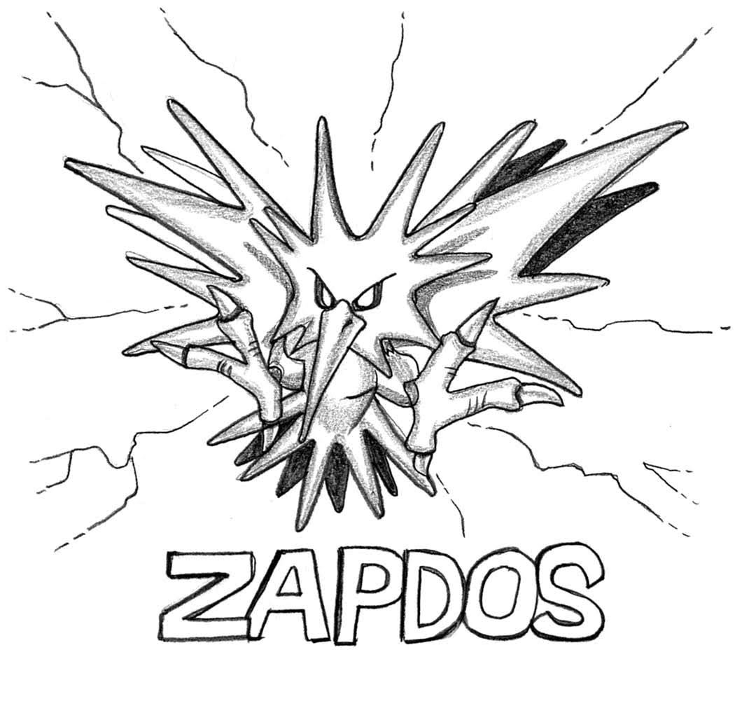 legendary zapdos pokemon coloring pages zapdos pokemon coloring pages printable free pokemon pages legendary zapdos pokemon coloring