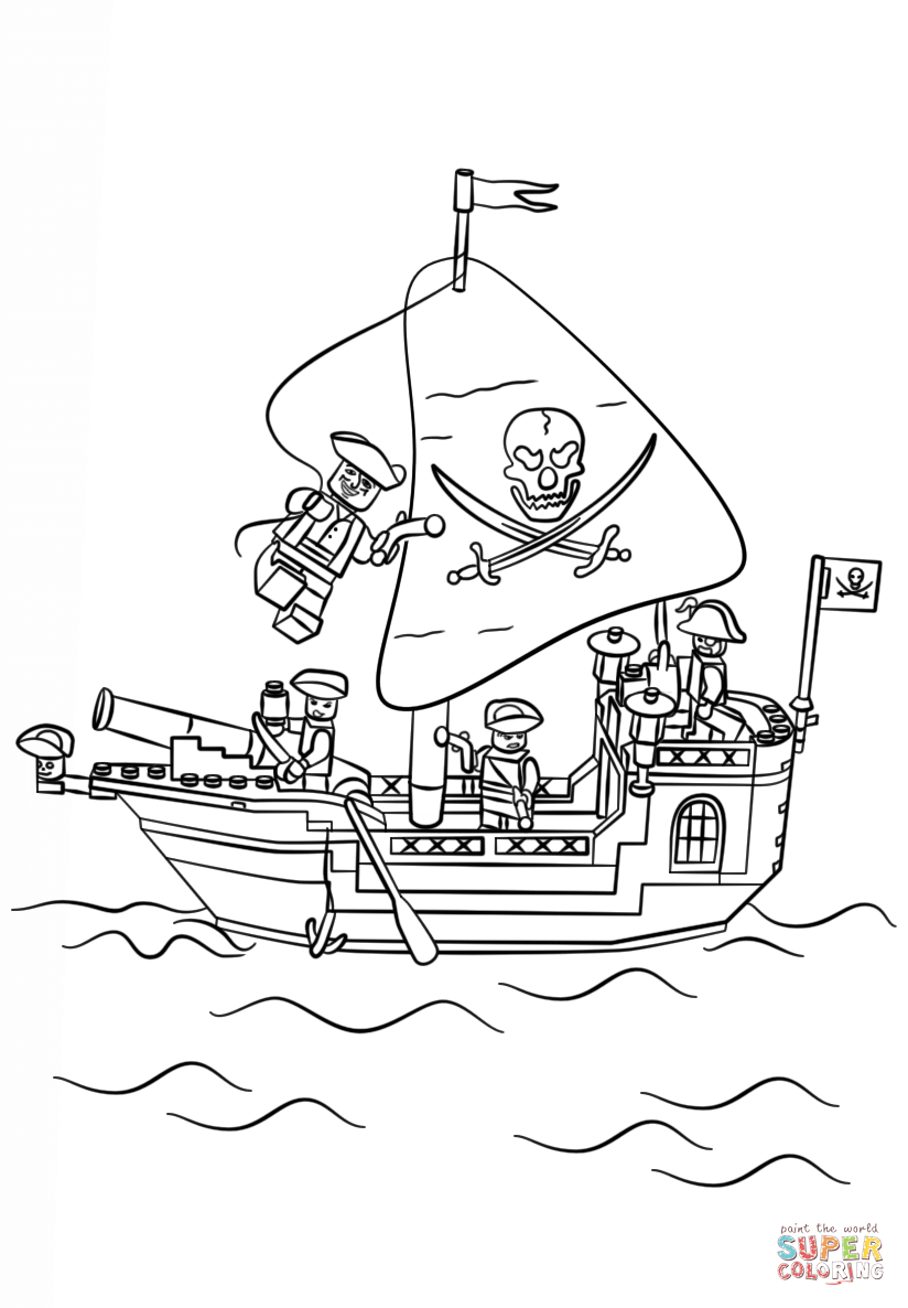 lego boat coloring page ship coloring pages for kids at getdrawings free download lego page coloring boat