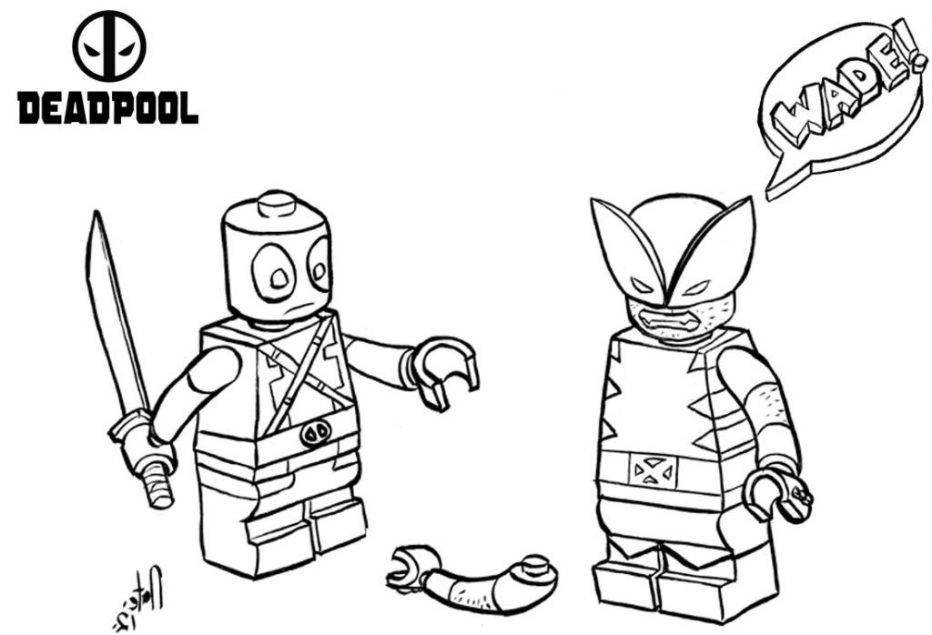 lego deadpool lego deadpool coloring pages line drawing free printable lego deadpool