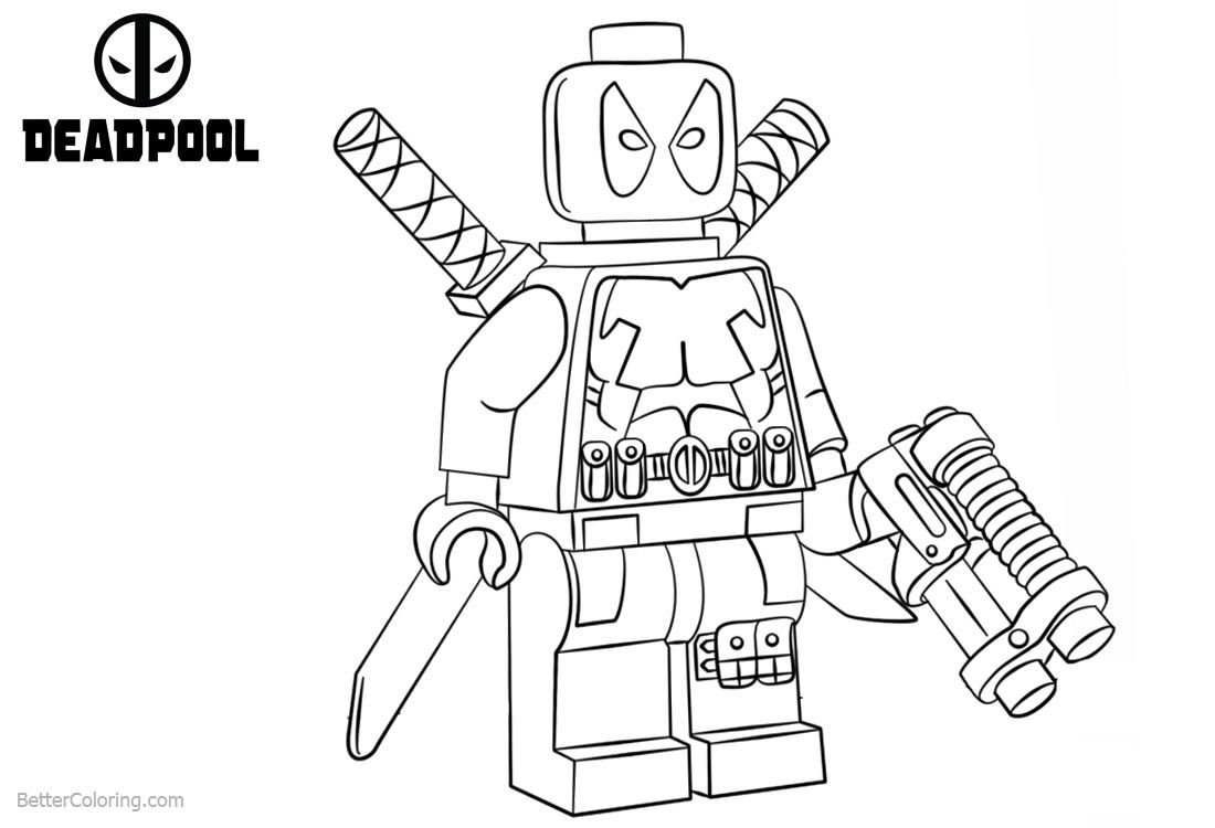 lego deadpool pin by wecoloringpage coloring pages on wecoloringpage lego deadpool