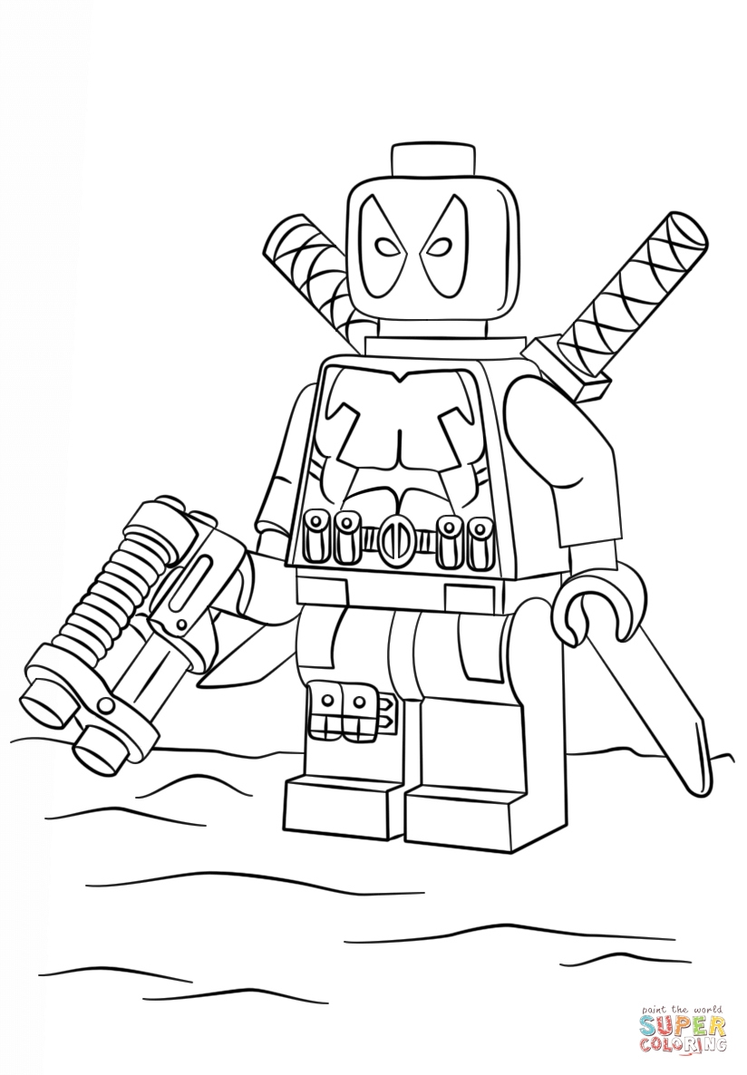 lego deadpool the flash characters lego coloring page free coloring lego deadpool