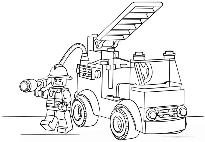 lego fire truck coloring 101 coloring page 5 of 27 free printable coloring truck lego coloring fire