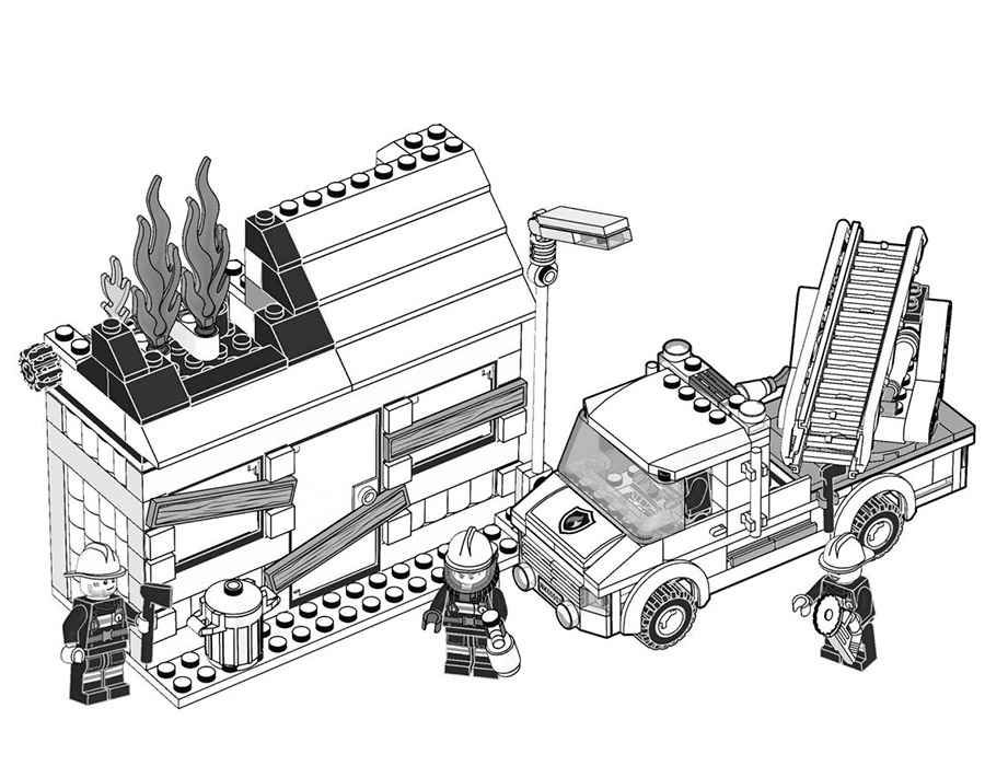 lego fire truck coloring fire truck coloring pages with images lego coloring coloring lego truck fire