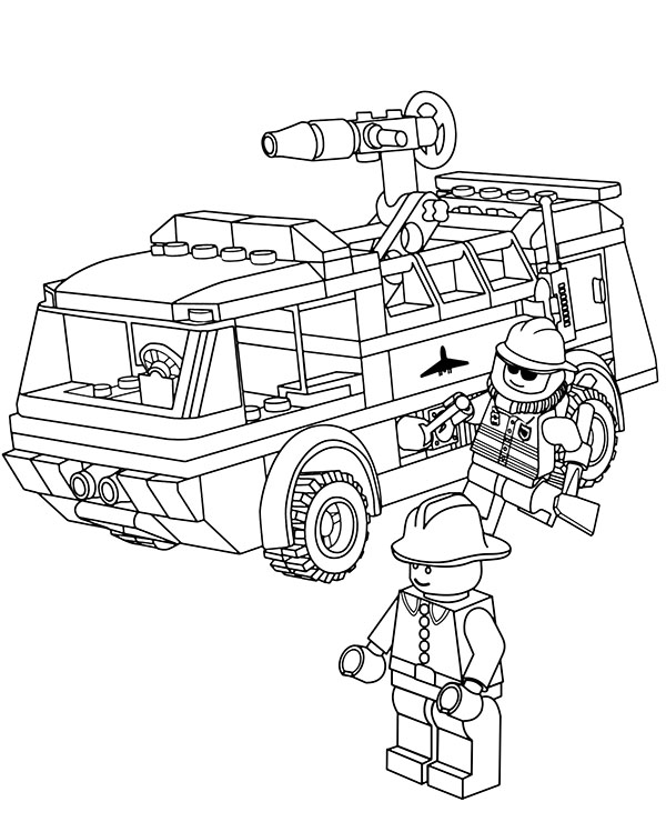 lego fire truck coloring lego fire truck coloring pages at getcoloringscom free coloring truck lego fire