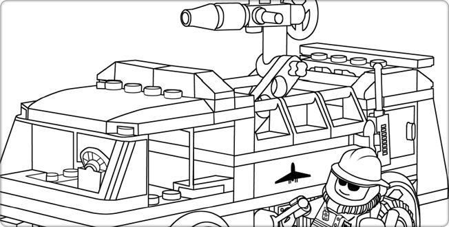 lego fire truck coloring lego fire truck coloring pages at getcoloringscom free truck lego fire coloring