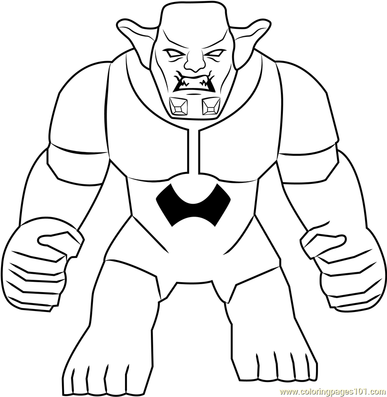 Lego green goblin coloring pages