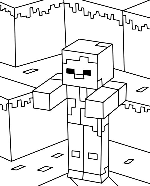lego minecraft coloring pages minecraft minecraf zombie coloring page in 2020 coloring minecraft lego pages