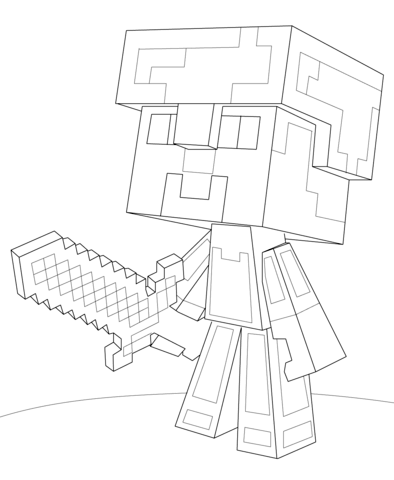 lego minecraft coloring pages minecraft steve diamond armor coloring page from minecraft lego pages minecraft coloring