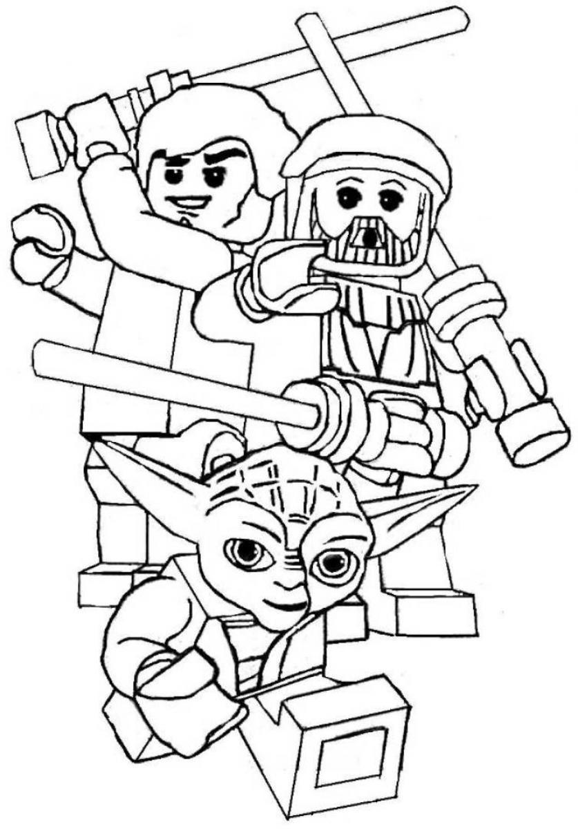 Lego star wars pictures to color