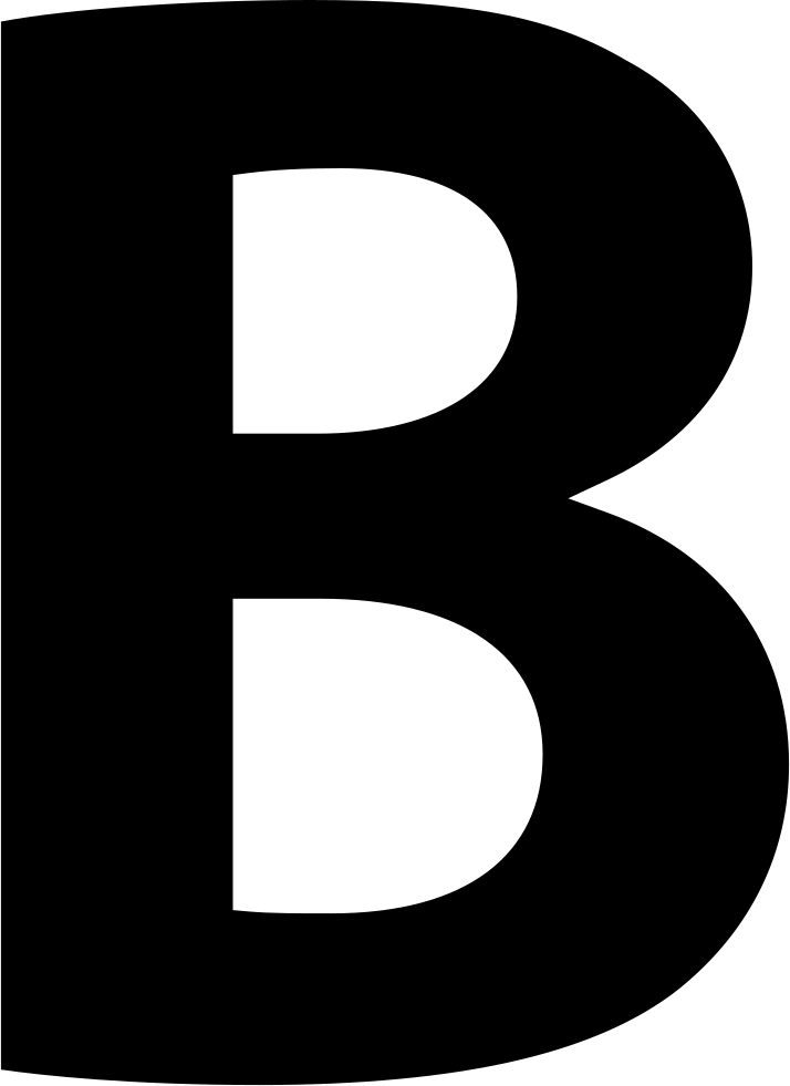 letter b bold button of letter b symbol svg png icon free download letter b
