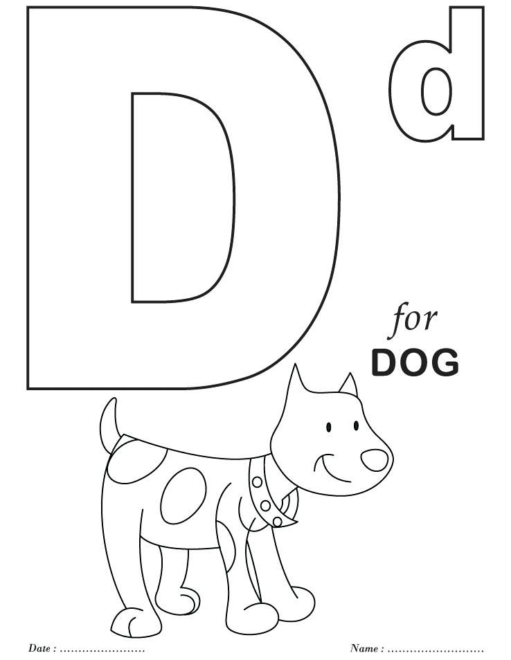 letter d coloring page for toddlers kindergarden kids learn letter d coloring page for letter toddlers page d coloring