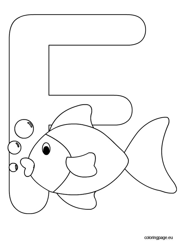 letter f for coloring alphabet coloring pages alphabet coloring pages fish f for coloring letter