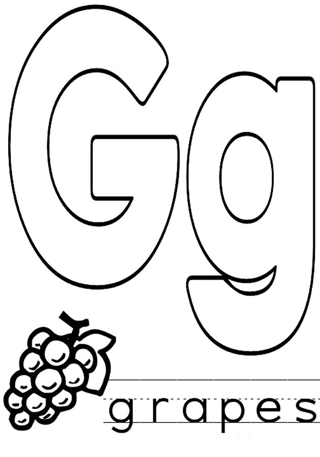 letter g coloring pages printable letter g coloring pages letter printable pages coloring g
