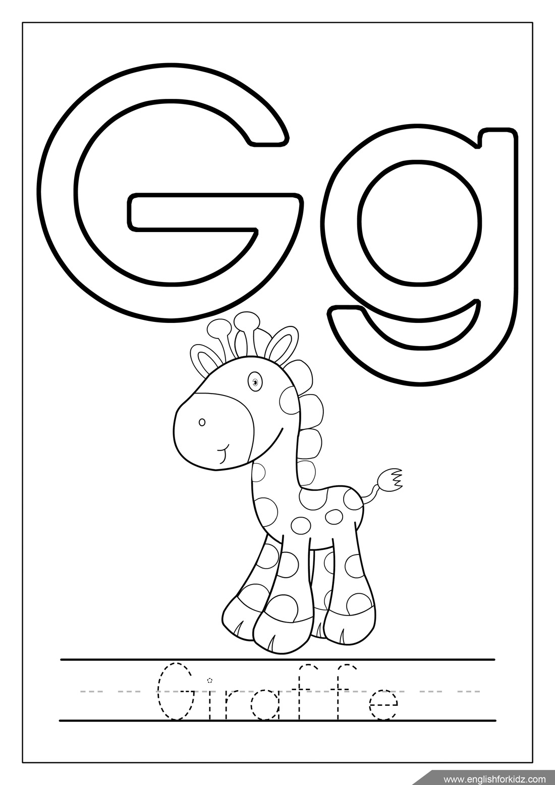 letter g coloring pages printable letter g coloring pages to download and print for free g printable coloring letter pages
