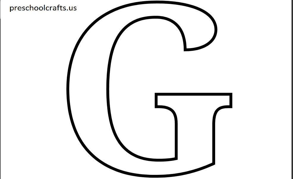 letter g coloring pages printable printable letter g coloring page preschool crafts coloring printable pages g letter