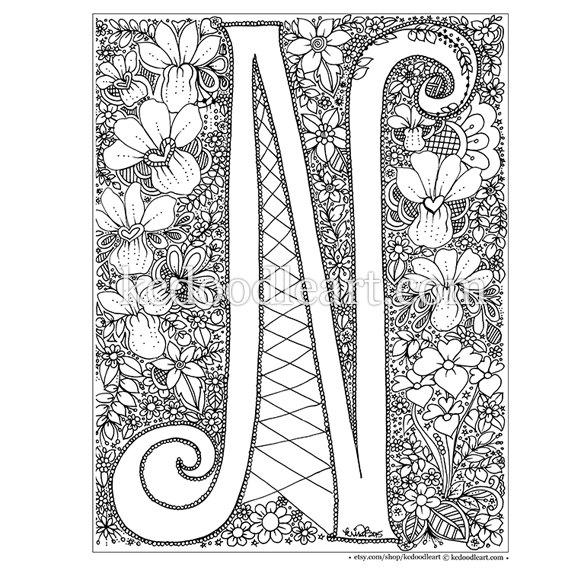 letter n coloring pages for adults alphabet coloring pages letter n letter n for adults pages coloring