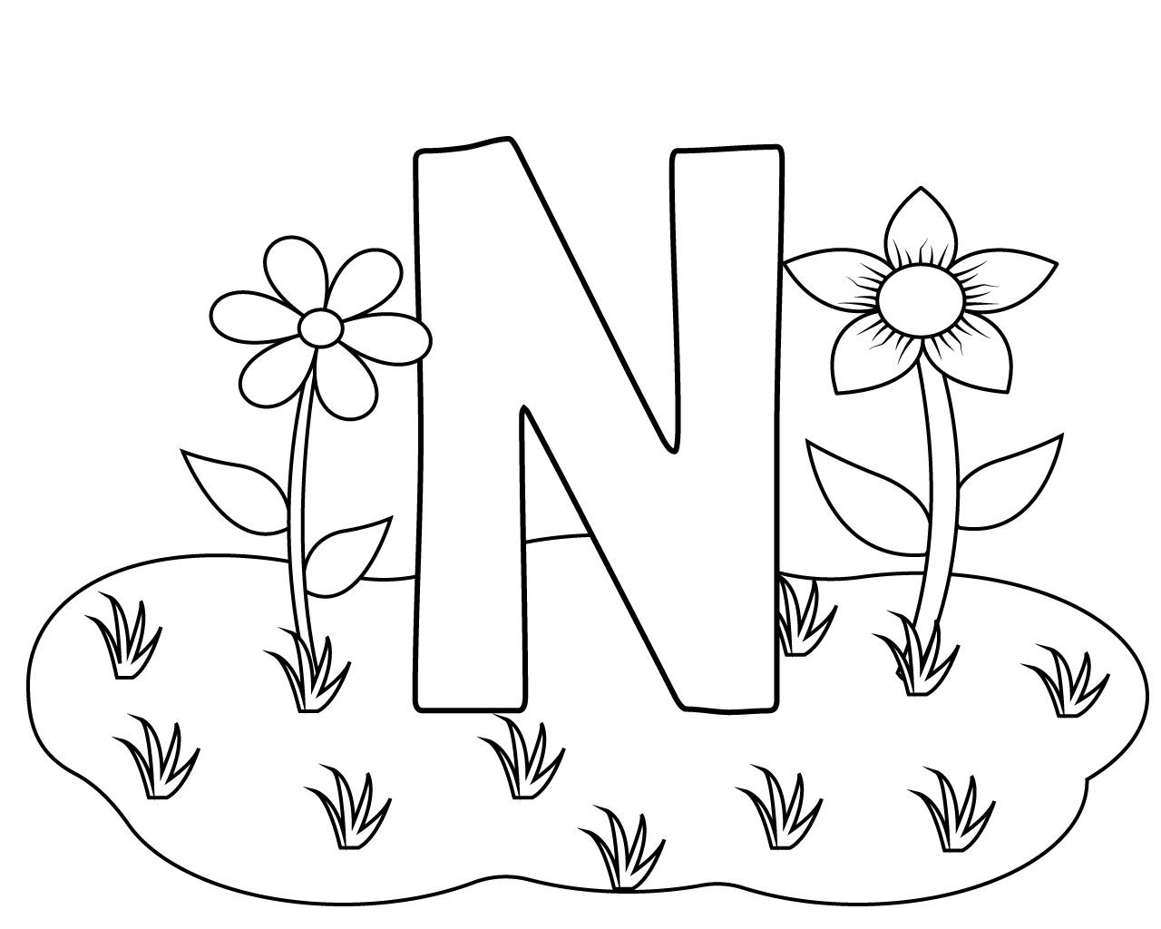letter n coloring pages for adults black line letter n with doodle floral ornament coloring letter adults pages coloring for n