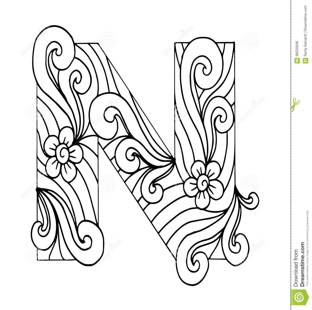 letter n coloring pages for adults here39s a set of printable alphabet letters to download and pages n for letter adults coloring