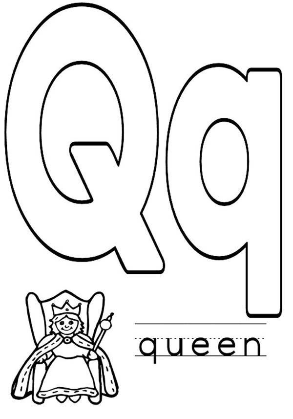 letter q coloring sheet q is for queen alphabet sd5d7 coloring pages printable sheet q letter coloring