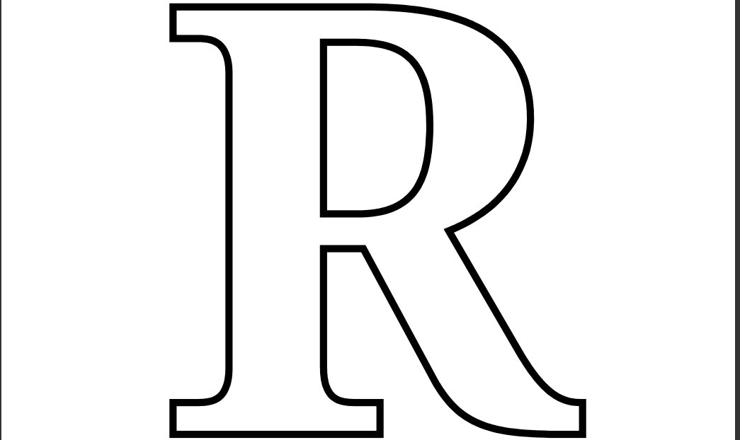 letter r coloring pages 8 best images of letter r template printable free letter pages r coloring