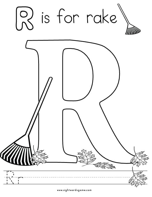 letter r coloring pages alphabet coloring pages sight words reading writing coloring r pages letter