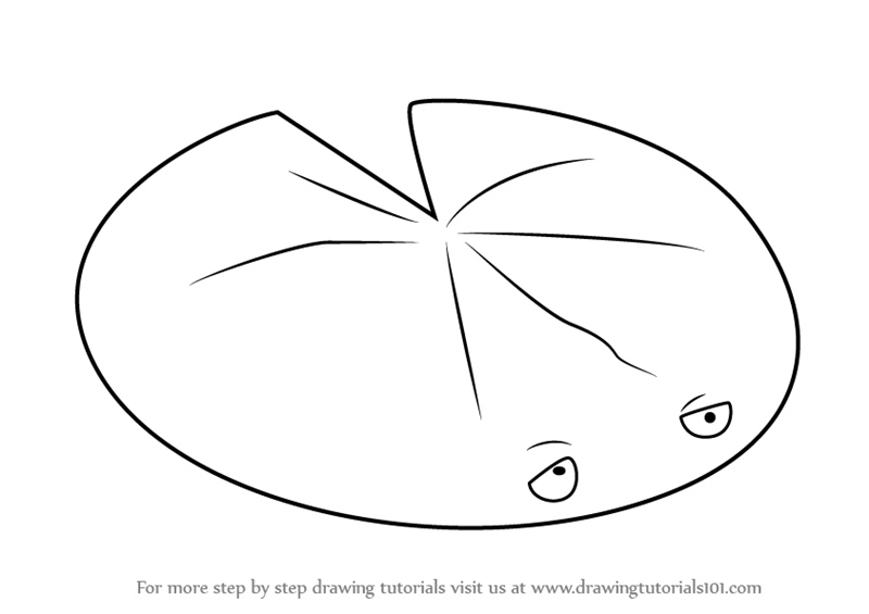 lily pads drawing lily pad flower drawing at getdrawings free download lily pads drawing