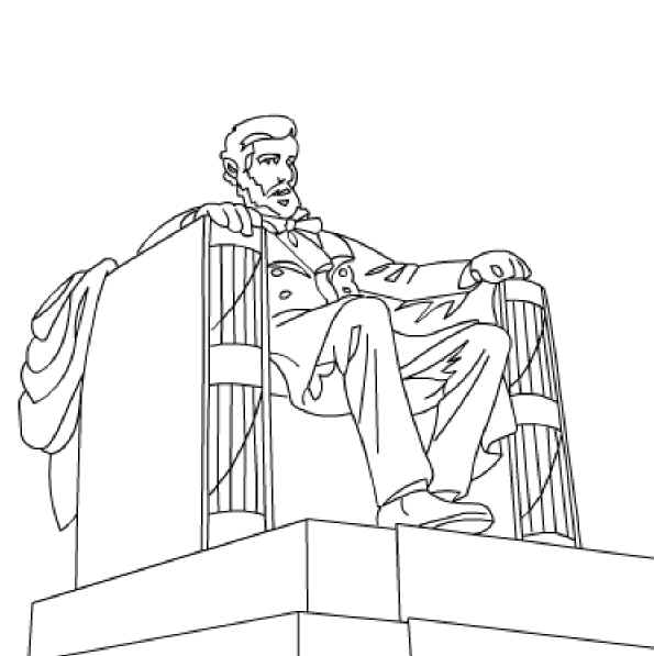 lincoln memorial coloring page lincoln memorial coloring pages 006 lincoln memorial coloring page