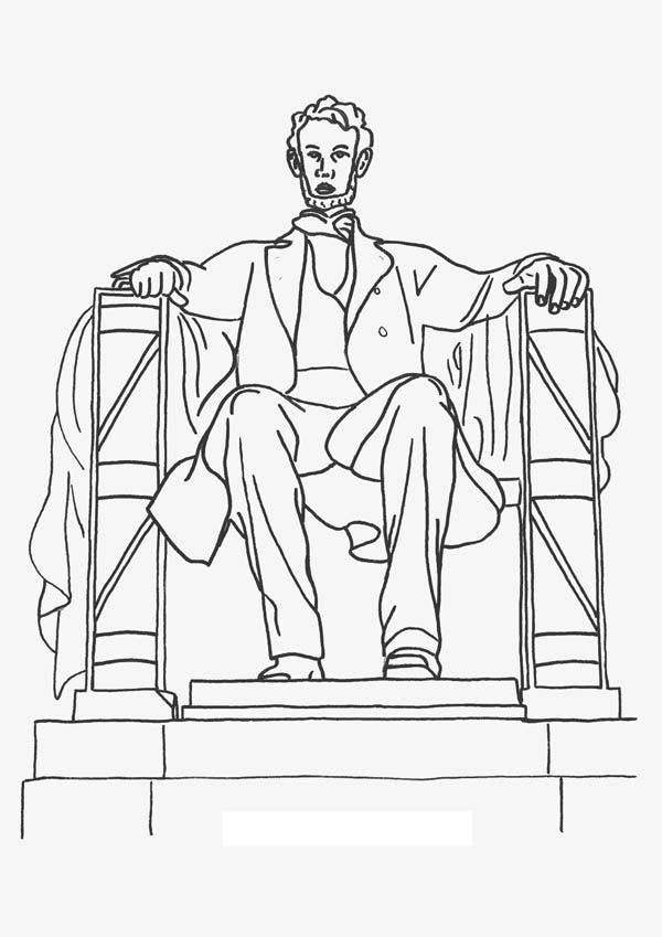 lincoln memorial coloring page lincoln memorial drawing at getdrawings free download page lincoln memorial coloring