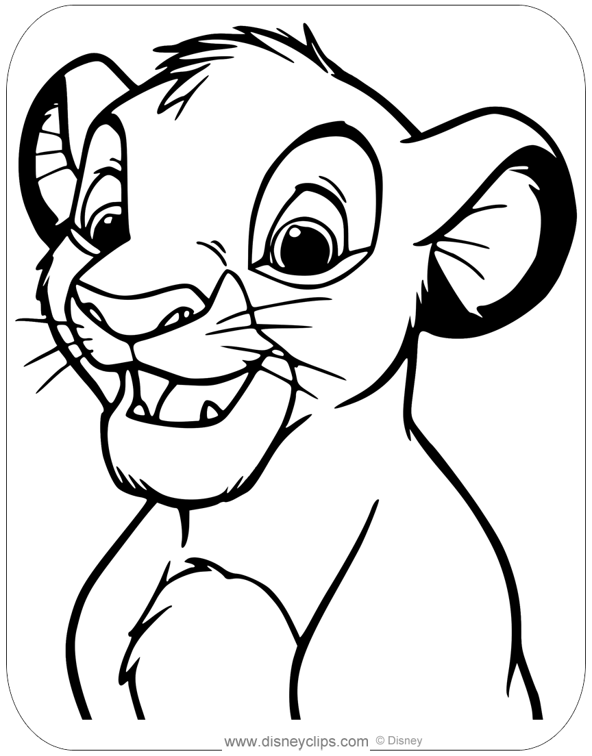 lion king coloring pages the lion king coloring pages disneyclipscom coloring lion king pages