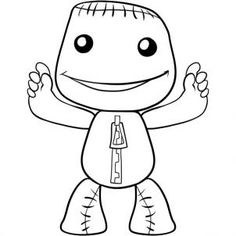 little big planet coloring pages blow us down there39s a playstation colouring book pages planet big coloring little