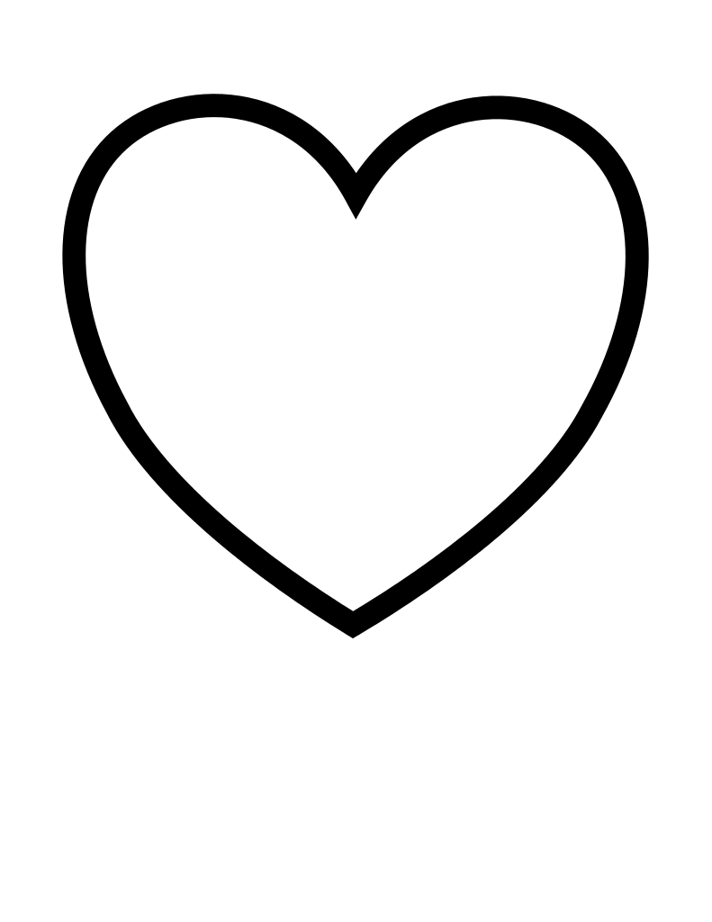 little heart coloring pages free printable heart templates large medium small coloring little pages heart