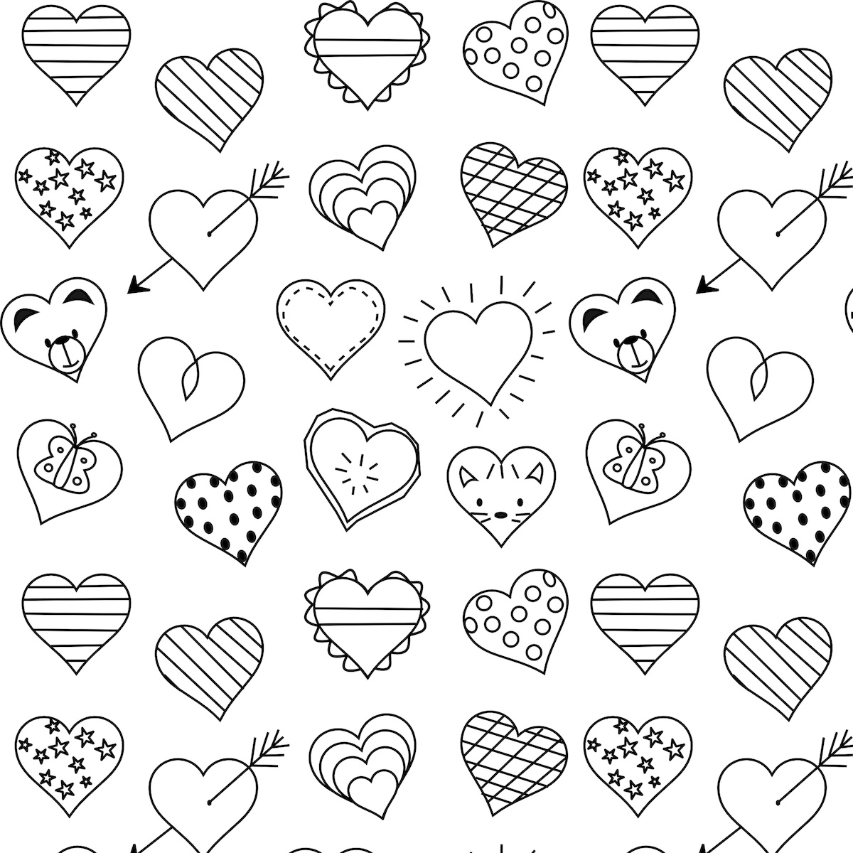 little heart coloring pages heart shaped border little hearts coloring book colouring heart coloring little pages