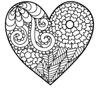 little heart coloring pages pictures of big hearts clipart best coloring little heart pages
