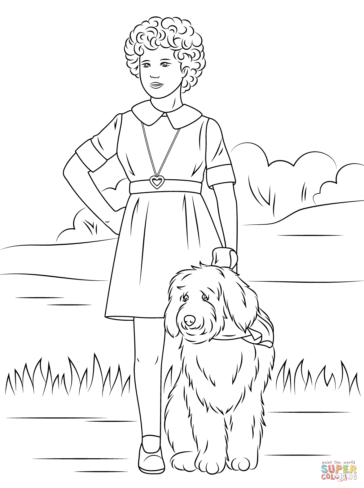 little orphan annie coloring pages little orphan annie coloring page free printable little pages orphan annie coloring