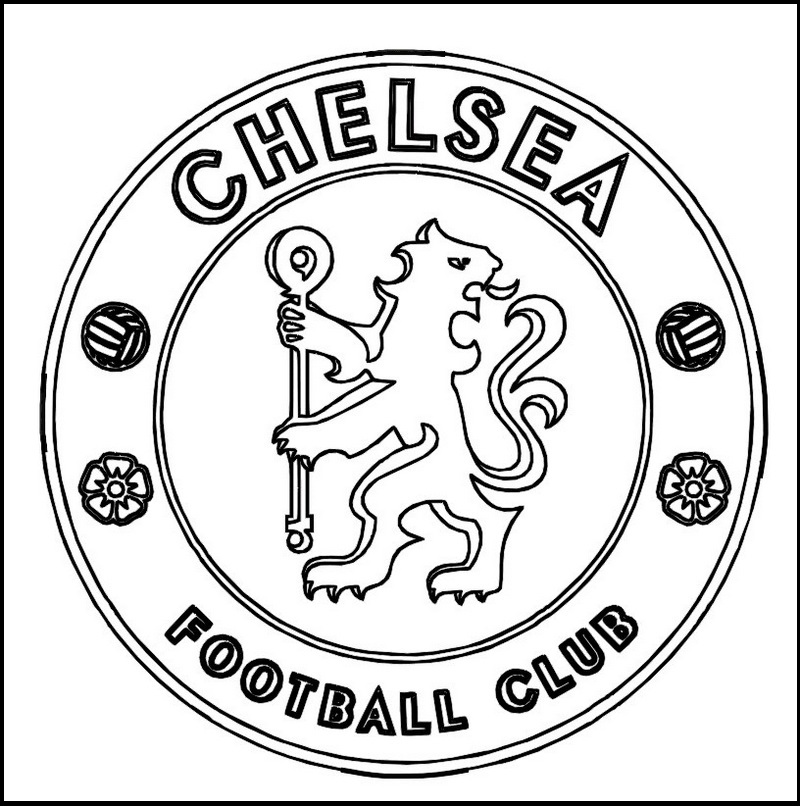 logo coloring pages chelsea football club coloring line art logo coloring pages