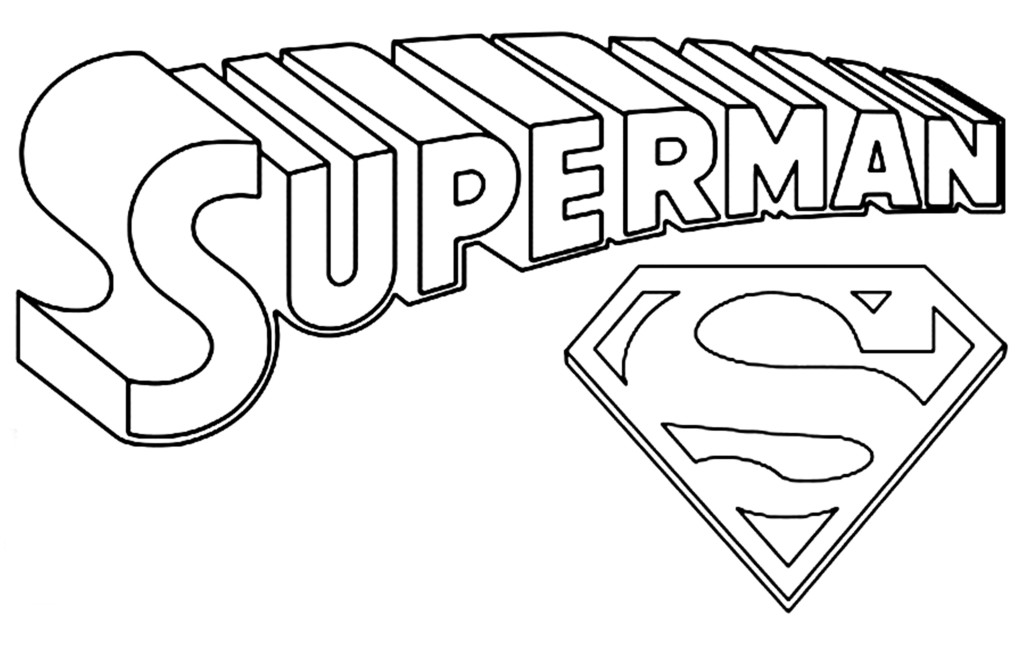 logo coloring pages superman logo coloring pages to download and print for free coloring logo pages