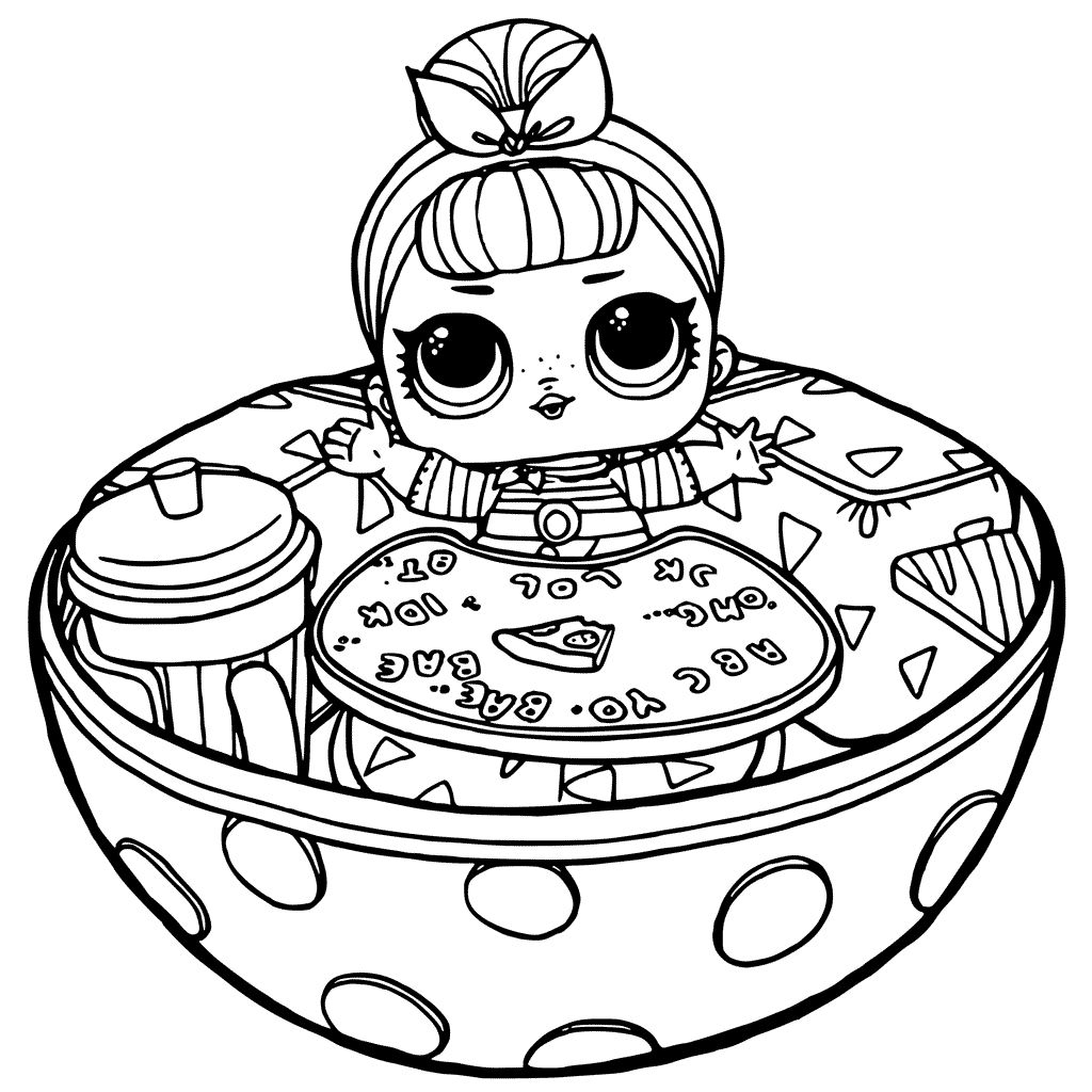 Lol toy coloring pages