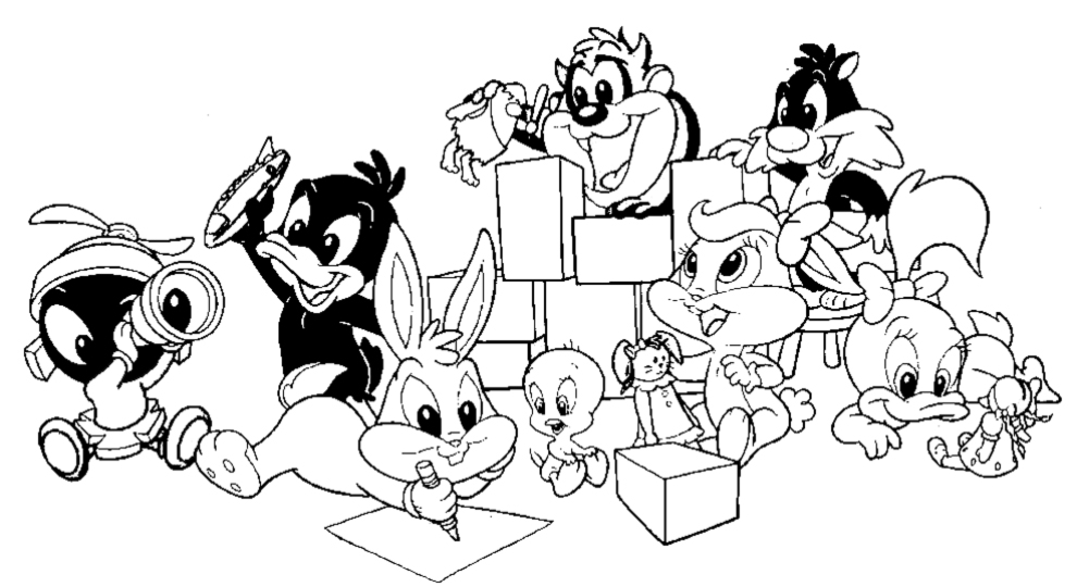 looney tunes coloring pages to print baby looney tunes coloring pages to coloring pages tunes print looney