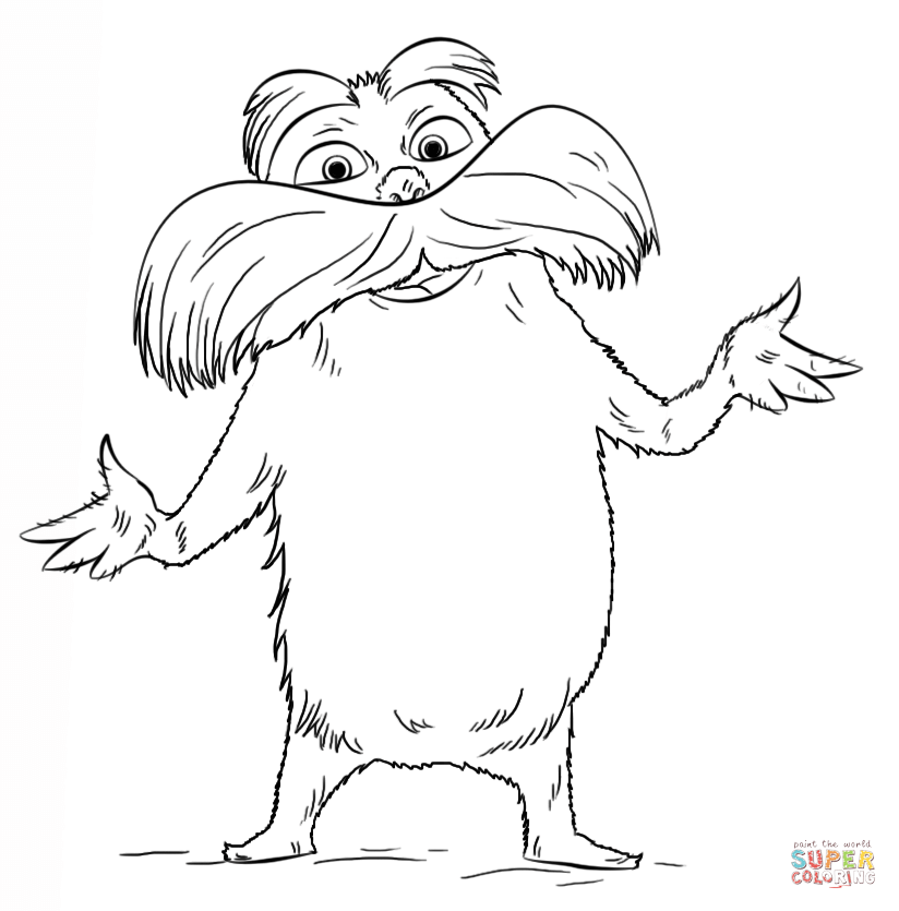 lorax coloring pages the best free lorax drawing images download from 90 free coloring lorax pages