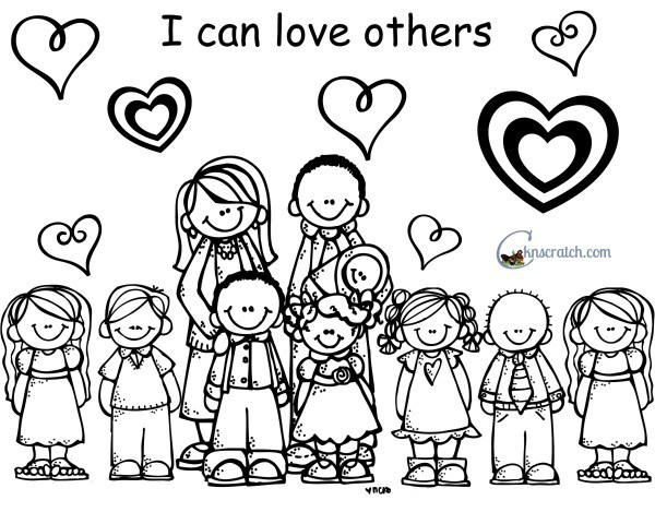love one another coloring page 100 day activities all about me page love coloring one another