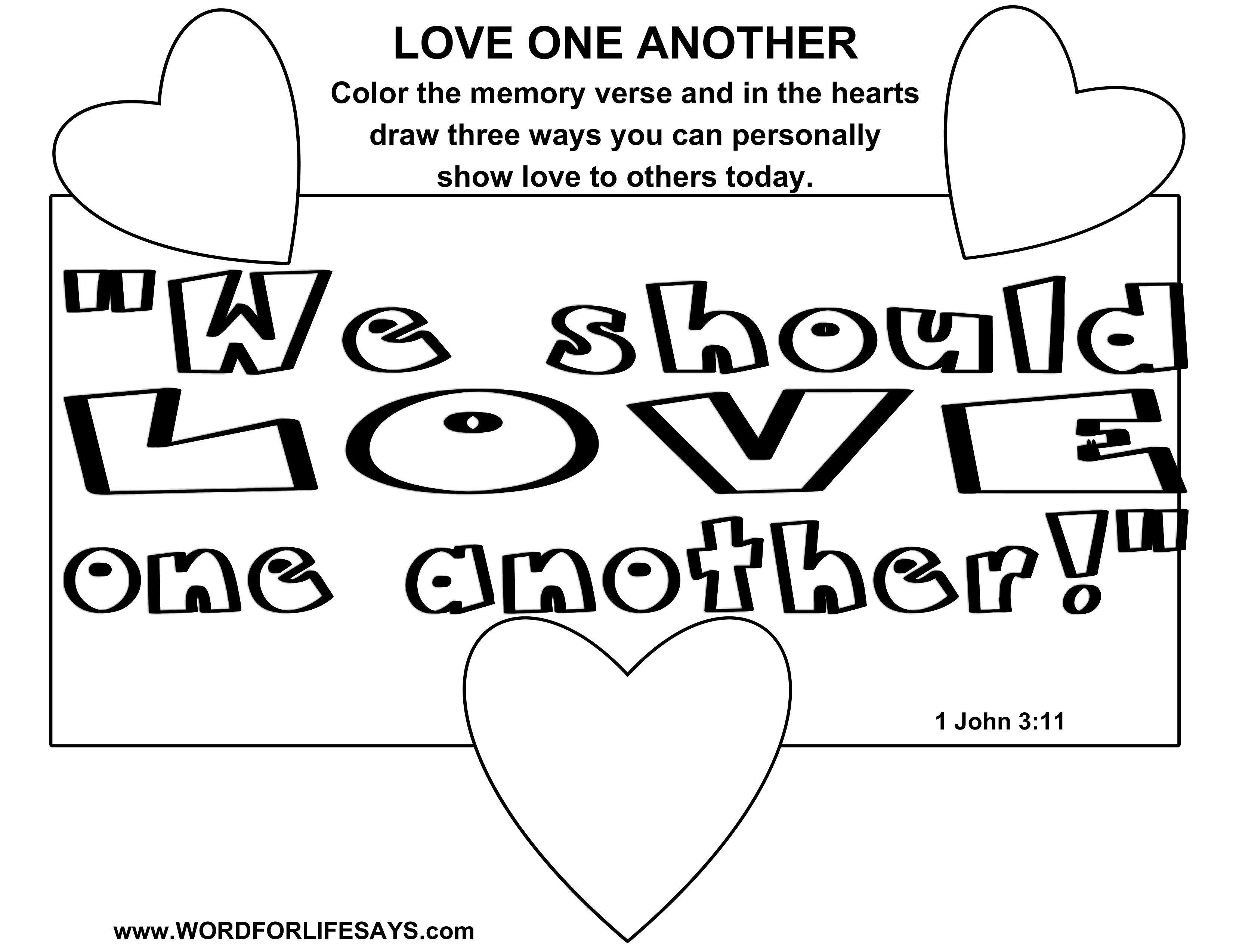 love one another coloring page love one another coloring pages coloring home coloring page one love another